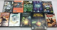 Lot 0f 10 PC Games, Sims, Rainbow six, World of Warcraft, Ghost Recon, Star Wars