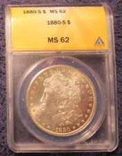 1880-S Morgan Silver Dollar ANACS MS 62 Brilliant Luster