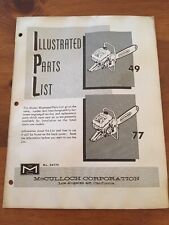 McCulloch Chainsaw Manual Model 49 , 77