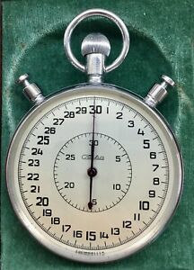 Stopwatch Mechanical SLAVA SDS-1-2-000.(3.69) USSR.Three-button.20 stones.1980.