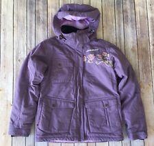 Orage Ski Jacket Girls Size XL 14 16001 Purple Flower Embroidery Winter Coat