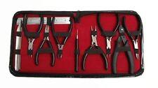 CraftbuddyUS Blk 10pc JEWELLERY MAKING Tools,Round nose,Flat nose,Nylon Jaw&Kits