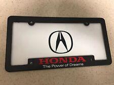 Acura License Plate Frame Honda Power of Dreams License Plate Frame Pair JDM