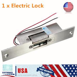 US 12V Fail Safe Electric Strike Lock NC Door Gate Drop Security Access Control