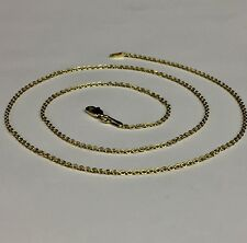 """14k Yellow Gold Cable Link Pendant Chain/Necklace 16"""" 1.5 mm 1.2 grams RCAB40"""