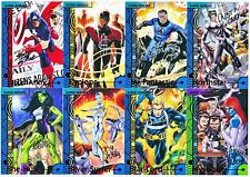 (8) 2013 Marvel Fleer Retro Super Heroes Villain Artist Autograph Auto Lot