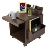 Brown Wood Nightstand Drawers Storage End Table Bedroom Storage Side Bedside US