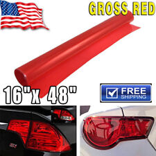 """Glossy Red Vinyl Wrap Overlay Film For Tail Lamps Lights Sidemarkers -16"""" x 48"""""""