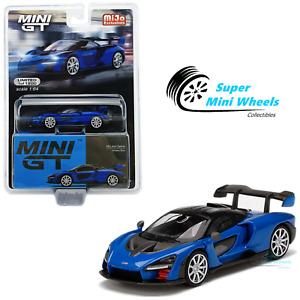 Mini GT 1:64 McLaren Senna Antares Blue #232