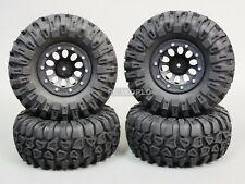 For Traxxas TRX-4 Rock CRAWLER  Beadlock Wheels & TIres 130mm   -Set Of 4- Black
