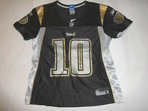 Reebok Womens M / Med Tennessee Titans Vince Young #10 Black NFL Football Jersey