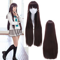Lovelive Sunshine Aqours Kurosawa Dia Long  Straight Dark Brown Hair Cosplay Wig