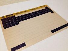 Yamaha RD80MX RD80 MX 5G0 1982 micro fiche parts list catalogue microfiche