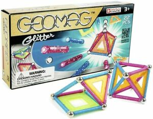 Geomag Glitter Set 22 Pieces Age 3+ Years Magnetic  Free UK Postage