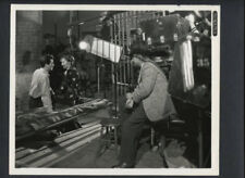 BARBARA STANWYCK + ROBERT TAYLOR ON SET BEING DIRECTED BY BILL SEITER - VINTAGE