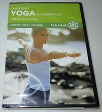 GAIAM Quick Start Yoga for Weight Loss with Suzanne Deason (DVD, 2005) NEW