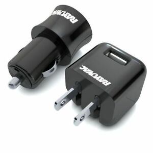 Rayovac Portable Combo Pack: 1 USB wall, 1 dual USB 12v car charger with cables