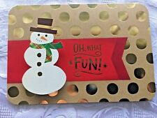 Hallmark 3-D Christmas Cards Nib Lot of 12 Die Cut Snowman Keepsake Tin Gold