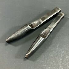 LOT X2 ANTIQUE DIXON? NO.26 & NO.24 LEATHER CREW PUNCHES SLOTTED WAD HOLLOW
