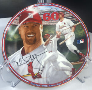 Mark McGwire The Bradford Exchange Collectible Plate Home Run #60 1998 Cardinals