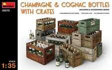 Miniart 1/35 Champagne & Cognac Bottles W/Crates #35575 *New release*