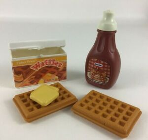 Fisher Price Fun With Food Breakfast Waffles Butter Little Tikes Syrup Vintage