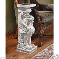 """30"""" Trapezophoron Griffin Winged Lion Eagle Sculpture Statue Pedestal"""