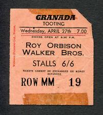 Origin 00004000 al 1966 Roy Orbison Walker Bros Concert Ticket Stub London Pretty Woman