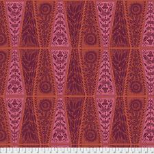 Triple Take - New Dresden Lace Free Spirit Cotton Quilt Fabric PWAM019  Pumpkin