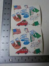FRANCES MEYER USA TRAVEL FLAG AIRPLAINE TENT STICKERS SCRAPBOOKING NEW A2564