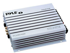 New Pyle PLMRA400 4 Ch 400 Watt Waterproof Marine Baot Power Audio Amp Amplifier
