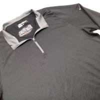 Nike Golf Men Extra Large Polo Shirt Black Long Sleeve Mid Zip Dri-Fit 06569