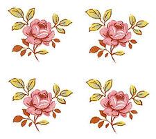 "16 Sweet Pink Dot Rose Roses Flower 3/4""  (20mm) Waterslide Ceramic Decals Bx"