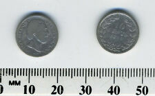 Netherlands 1890 - 10 Cents Silver Coin - King William III