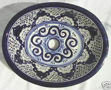 """Talavera Ceramic 17x14"""" Hand-painted Drop in Sink Mexican  #  63"""