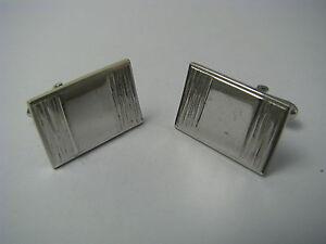 PAIR CLASSIC STERLING SILVER CUFFLINKS MODERN DESIGN by Swank ca1980s