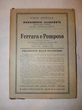 Italia Artistica 2, Giuseppe Agnelli: Ferrara Pomposa, Monografie Illustrate