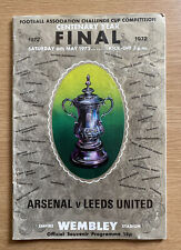 FA CUP FINAL 1972 PROGRAMME,  ARSENAL v LEEDS UNITED,  CENTENARY FINAL