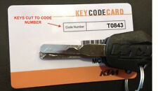 KTM High Security Motorbike,Dirt Bike,Trail Bike Keys Cut To Your Code Number