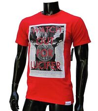 Diamond supply co. Lucifer mens skateboard Red t Shirt size Small