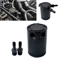 "400ML Capacity Car Compact Baffled Oil Catch Can Tank 2-Port 3/8"" NPT Aluminum"