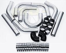 "3"" Universal Aluminum Piping Kit, Mandrel Bent, Polished, 2.0mm Thick 18 long"