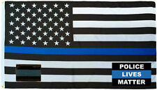 Wholesale 3x5 Police USA Thin Flag Decal Sticker Thin Blue Line Lapel Pin Set 4