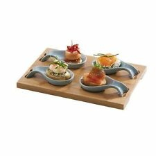 Typhoon Set 4 Mini Spoon Tasting Platter Canapes Amuse Bouche Spoons