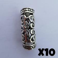 Brazalete 10x Viking barba del grano Dreadlocks Pelo Perlas Joyas celta plata tibetana