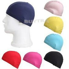 Swimming Cap Durable Sportive Water Proof Nylon Lycra Adult Unisex Swim Hat