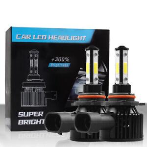 4-Sides 9012 LED Headlight Bulbs kit Hi Low Beam 6000K Super Bright High Power