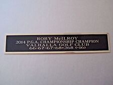 New listing Rory McIlroy Autograph Nameplate For A 2014 PGA Golf Club Flag Photo Case 1.5X8