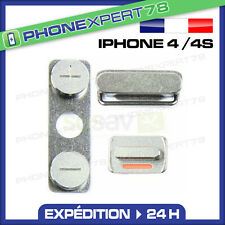 KIT BOUTONS VOLUME + VIBREUR + POWER ON/OFF pour IPHONE 4 / 4S