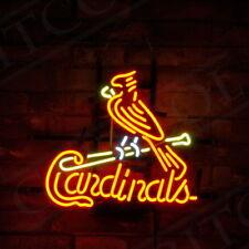 "17""x14"" ""Cardinals"" Sports Team Neon Sign Custom Light Game Room Bistro Club"